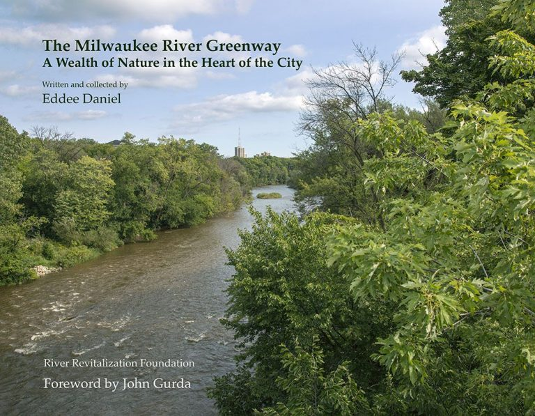 view of river and trees in the greenway book cover